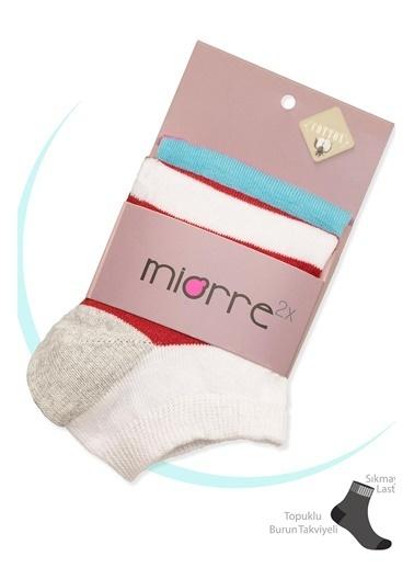 Miorre 2'li Pamuklu  Kadın Soket Çorap Renkli